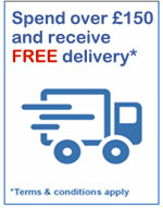 Spend over £150 and receive FREE delivery* *Terms & Conditions Apply